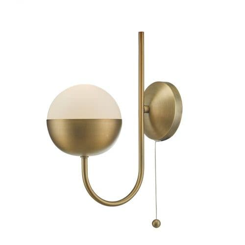 Dar AND0742 Andre 1 Light Wall Light Aged Brass